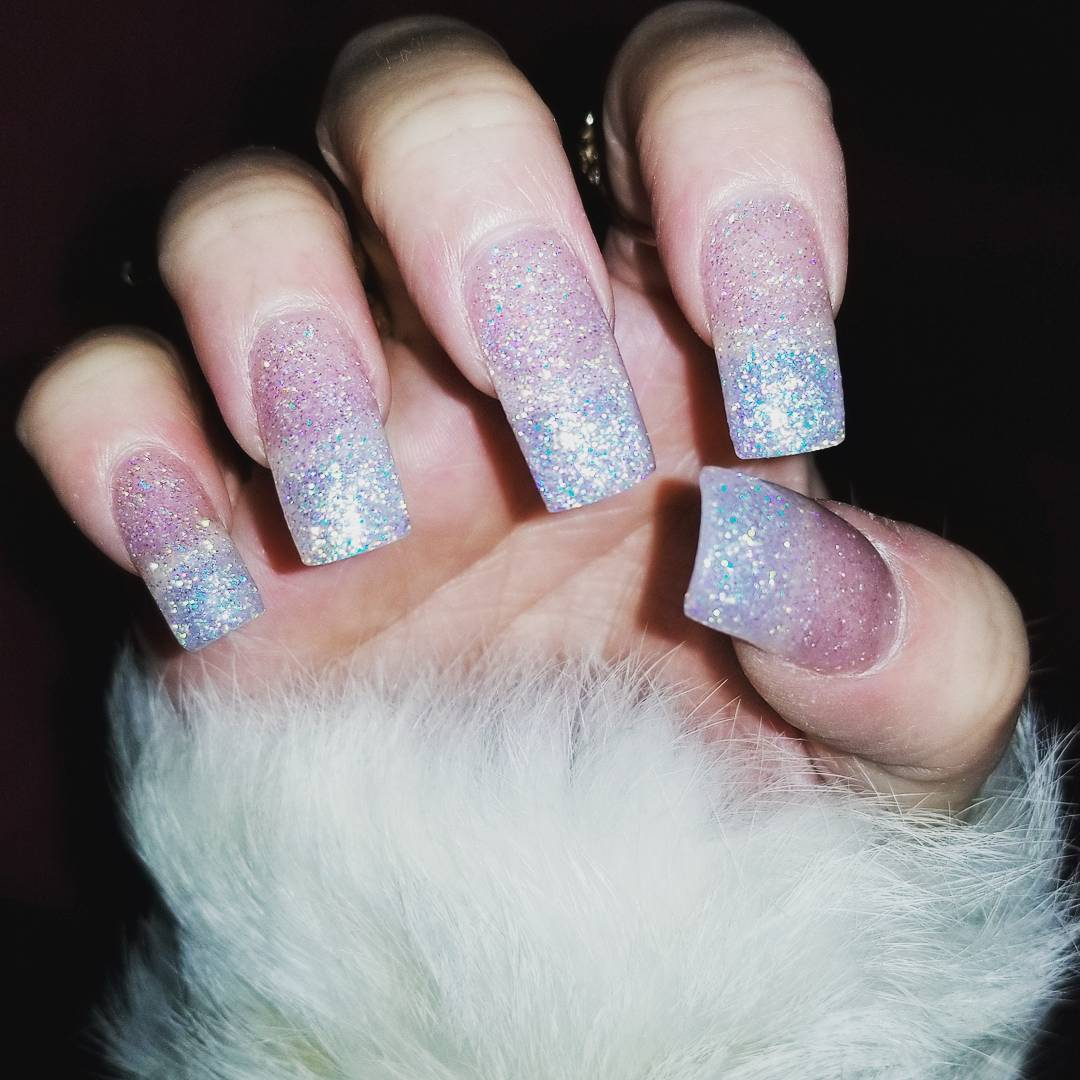 Glam goes with everything My current nail situation! holidaynails nailshellip
